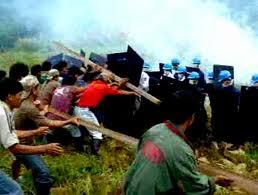 Riot in Didipio